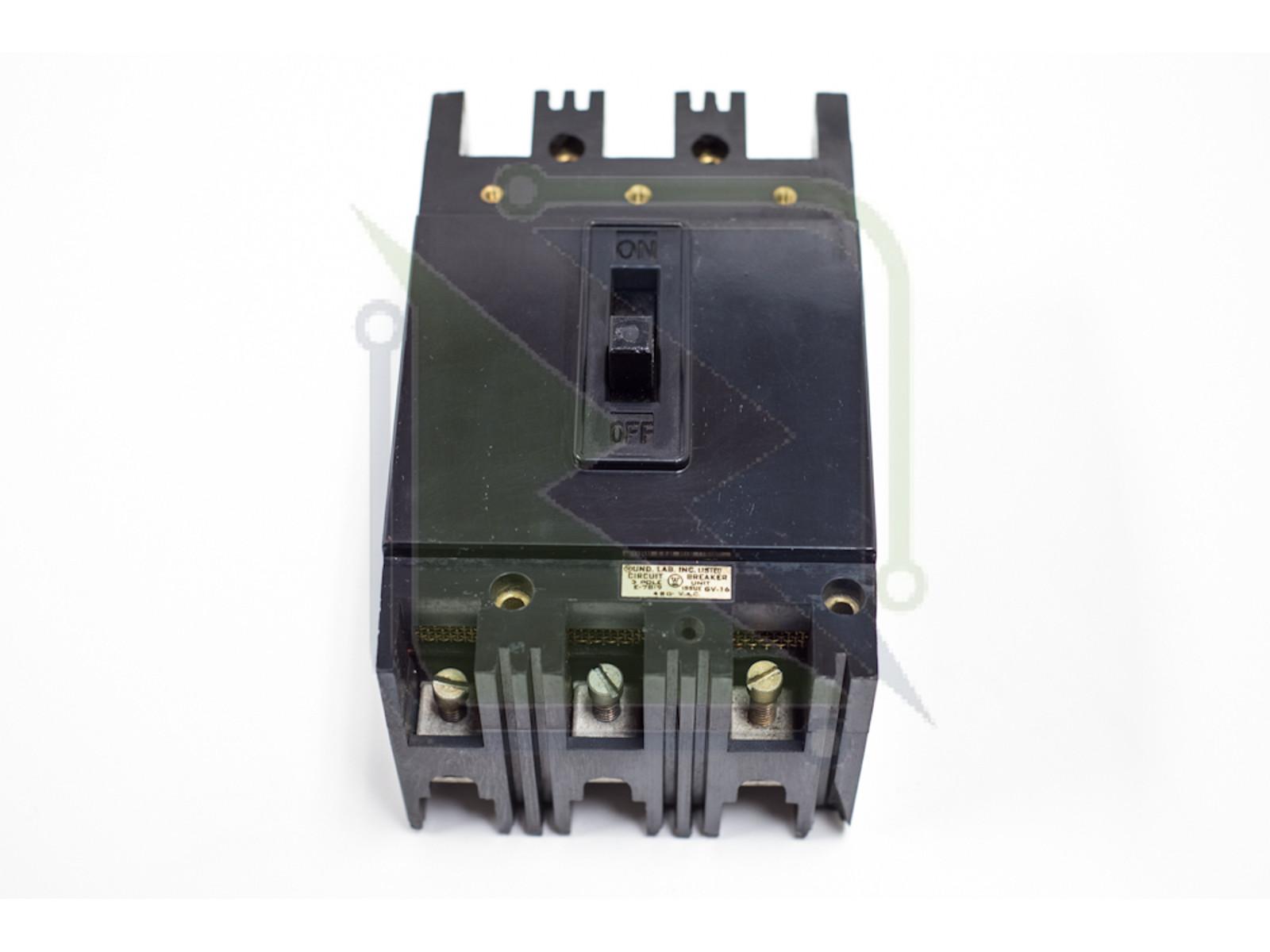 WESTINGHOUSE EH3025 3 POLE 25AMP CIRCUIT BREAKER