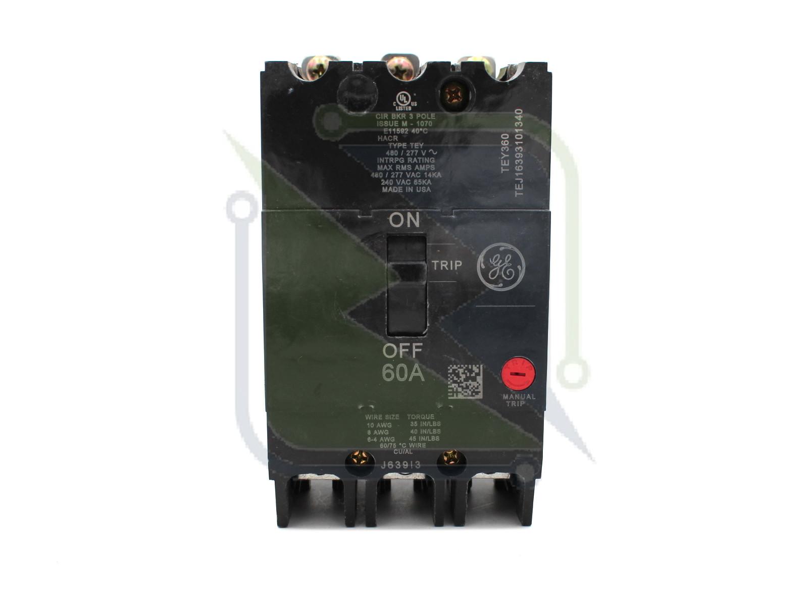 Circuit Breakers & Disconnectors General Electric GE TEY 3 ... on